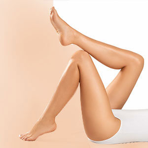 Upper legs laser hair removal
